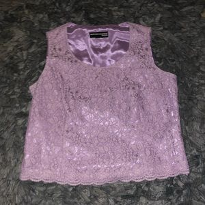 6/$20 Norton mcnaughton large purple lace crop
